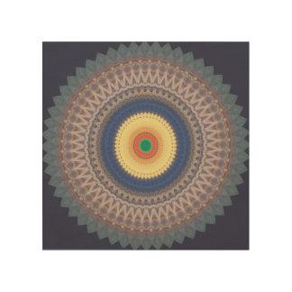 Mandala-hölzerne Wand-Kunst Holzdrucke