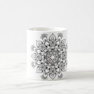 Mandala-klassische weiße Tasse