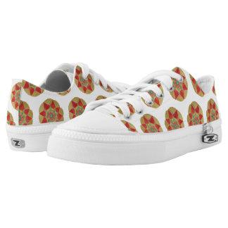 Mandala kundenspezifische Zipz niedrige Niedrig-geschnittene Sneaker