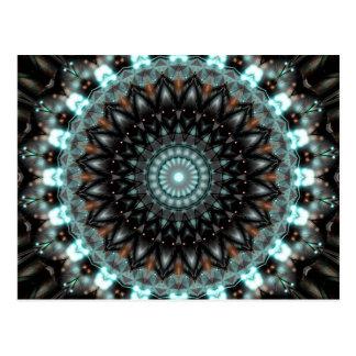Mandala-künstlerische Kreativität geschaffen durch Postkarte