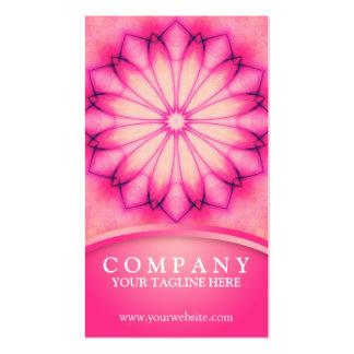 Mandala rose d'encre carte de visite standard