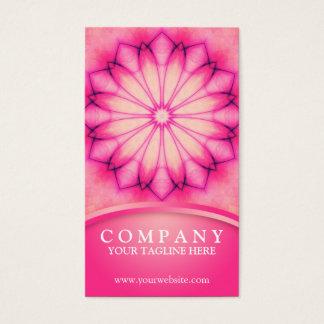 Mandala rose d'encre cartes de visite