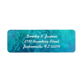 Mandala-Schneeflocke-blaue