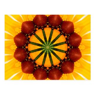 Mandala - Schwarz-Mit Augen Susan Postkarte