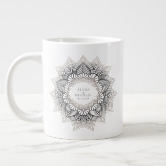 Mandala-Spitze-Hochzeits-neutrale Personen ID478 Jumbo-Tasse
