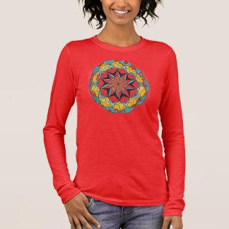 Mandala-T-Shirt Langärmeliges T-Shirt