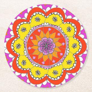 Mandala-Untersetzer Runder Pappuntersetzer