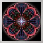 Mandala vif de pétales - copie poster