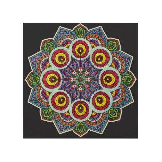 Mandala-Wand-Kunst Holzleinwand