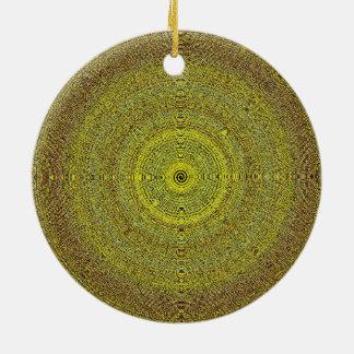 Mandala-Weihnachtsbaum-dekorative Verzierung Rundes Keramik Ornament