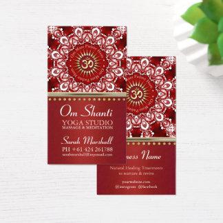 Mandala-Yoga-Geschäft Heilensom Shanti rotes Visitenkarte