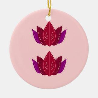 Mandalas rosarot rundes keramik ornament