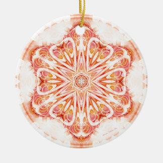 Mandalas vom Herzen von Änderung 8, Rundes Keramik Ornament