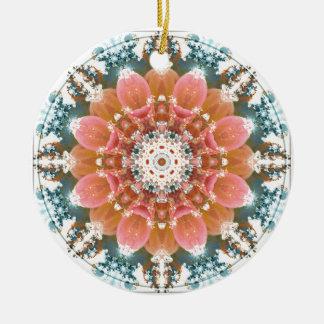 Mandalas vom Herzen von Änderung 9, Rundes Keramik Ornament