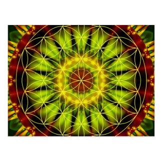 Mandalaunabhängigkeit mit Blume des Lebens durch Postkarte