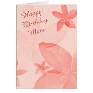 Mandarine-Blumenmamma-Geburtstag Karte