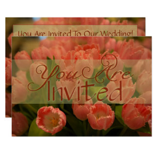 Mandarine-Tulpe-Frühlings-Hochzeits-Einladung Karte