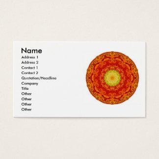 Mandela-Geschäfts-Karten des Zen-Buddhisten Visitenkarte