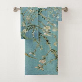 Mandelbaum in der Blüte Vincent van Gogh Badhandtuch Set