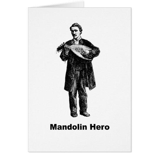 Mandolinen-Held Grußkarte