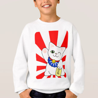 Maneki Neko glückliche Katze Sweatshirt