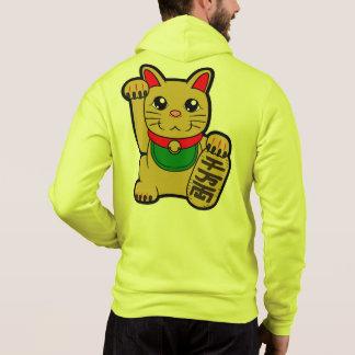 Maneki Neko: Goldene glückliche Katze Hoodie