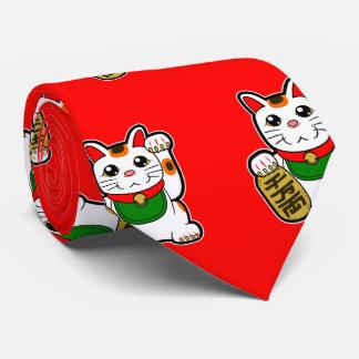 Maneki Neko: Japanische glückliche Katze Individuelle Krawatten