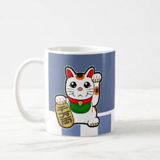 Maneki Neko: Japanische glückliche Katze Kaffeetasse