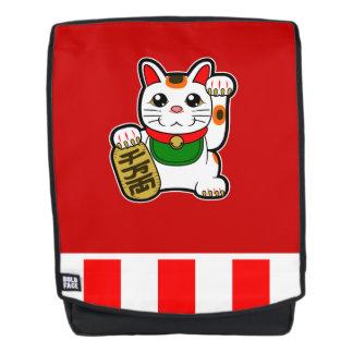 Maneki Neko: Japanische glückliche Katze Rucksack