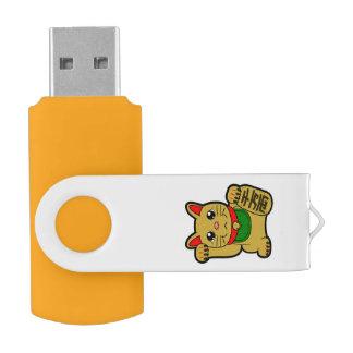 Maneki Neko: Japanische goldene glückliche Katze USB Stick