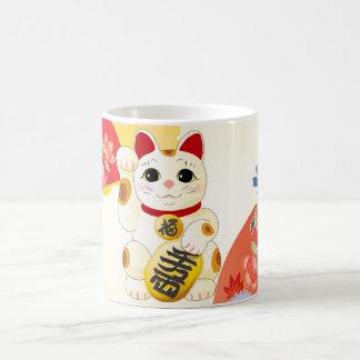 Maneki Neko japanische Vermögens-Katze Kaffeetasse