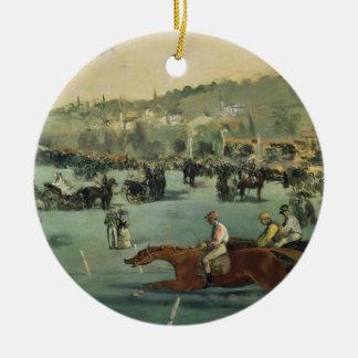 Manet | Pferderennen, 1872 Keramik Ornament