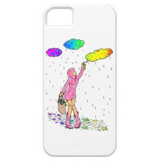 Manga Graffiti Rainbow Clouds Girl iPhone 5 Case