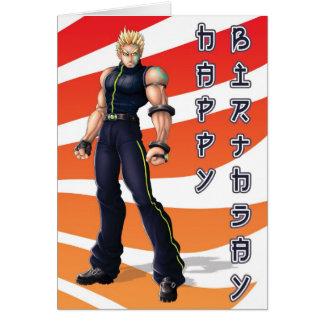 Manga Held-Geburtstag Karte