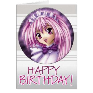 Manga Mädchen-Mädchen-Geburtstag Karte