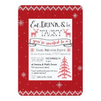 Mangez, boisson et soyez invitation de mauvais carton d'invitation  12,7 cm x 17,78 cm