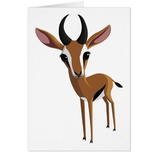 Mango die Gazelle Grußkarte
