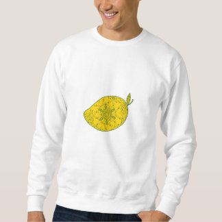 Mango-Frucht-Mandala Sweatshirt
