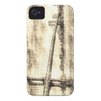 Manhattan-Brücke Vintag iPhone 4 Case-Mate Hülle