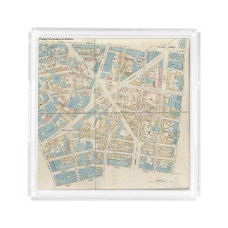 Manhattan-Karte Acryl Tablett