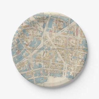 Manhattan-Karte Pappteller