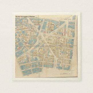 Manhattan-Karte Serviette