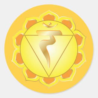 manipura oder SolarPlexus chakra Aufkleber