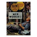 Mann-Arbeiten Grußkarte