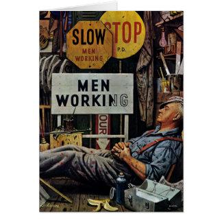 Mann-Arbeiten Karte