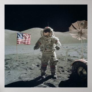 Mann auf dem Mond-Plakat Poster