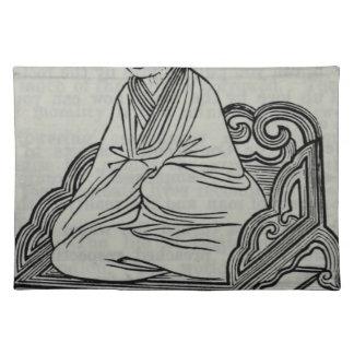 Mann, der in der Meditations-Pose sitzt Tischset