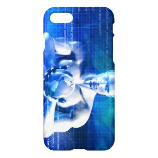 Mann, der Kugel mit Technologie-Industrie hält iPhone 8/7 Hülle