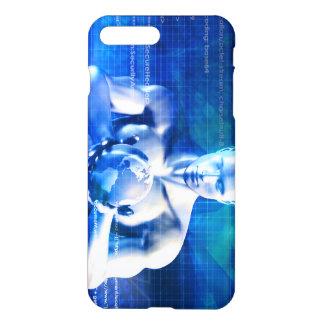 Mann, der Kugel mit Technologie-Industrie hält iPhone 8 Plus/7 Plus Hülle