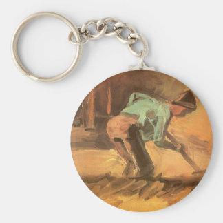 Mann, der mit Stock oder Spaten, Vincent van Gogh Schlüsselanhänger